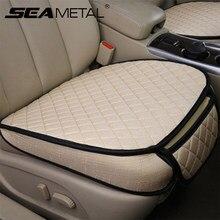Auto Sitzbezüge Set Universal Autos Sitz Abdeckung Atmungs Flachs Auto Sitze Kissen Pads Protector Auto Styling Zubehör