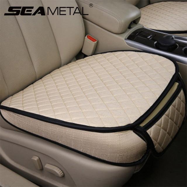 Tampas de assento do carro conjunto universal automóveis capa de assento respirável linho assentos automóvel almofada almofadas protetor estilo do carro acessórios