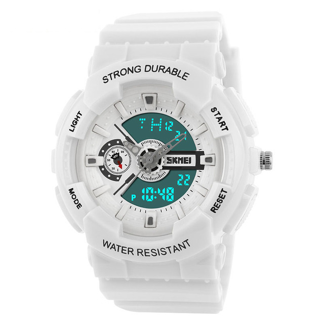 Sports Watches Men Style Digital Analog LED Watch Sport Military  Wristwatches Shock Women White Clock Masculino Relogio Feminino 1eab6b3065