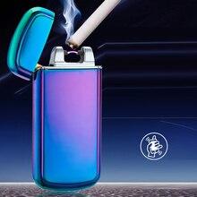 Usbชาร์จไฟฟ้าArcไฟแช็คส่วนบุคคลข้ามคู่ชีพจรบางเบา