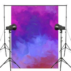 Image 1 - Dreamlike Purple Blue Photography Backdrop Art Smoke Background Kids Photo Studio 5x7ft Photography Background Wall