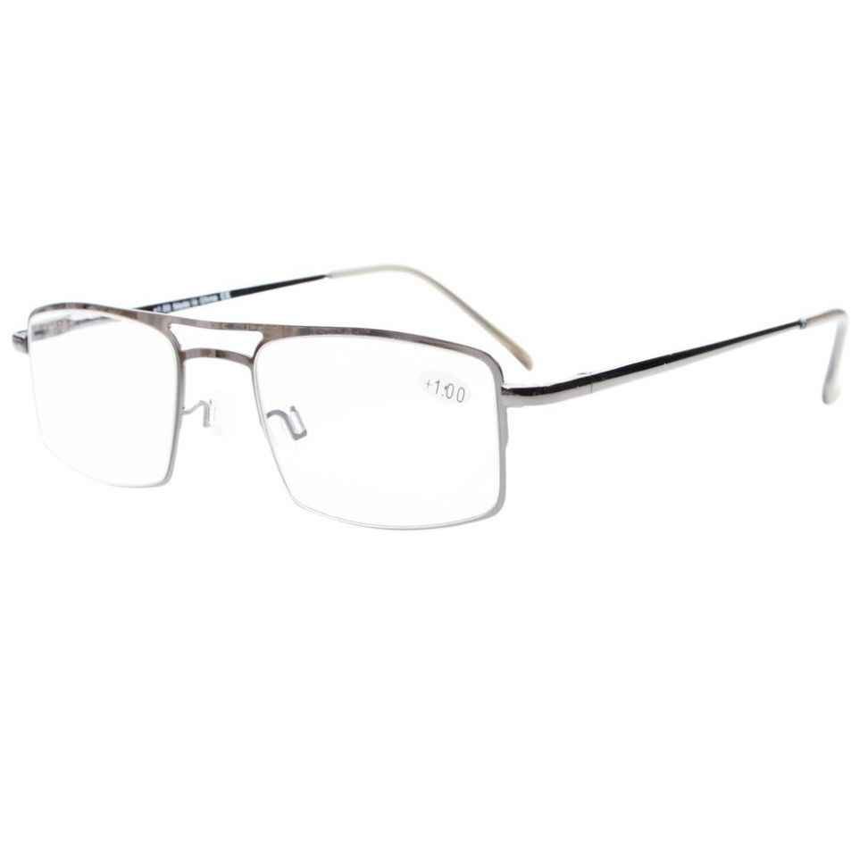 fe16b571b653 R15012 Eyekepper Spring Hinges Reading Glasses with Temple Clip Readers +0.5 0.75 1.0