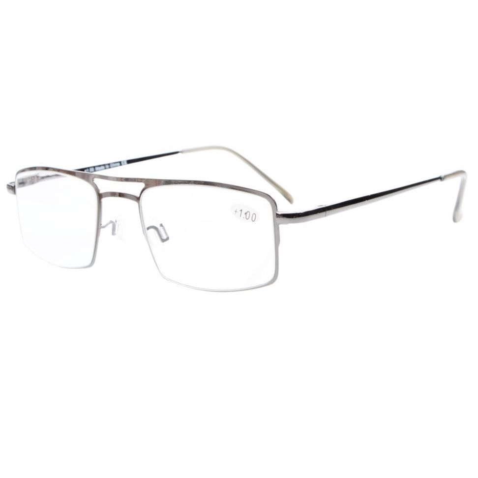 R15012 Eyekepper Spring Hinges Reading Glasses with Temple Clip Readers+0.5/0.75/1.0/1.25/1.5/1.75/2.0/2.25/2.5/2.75/3.0/3.5/4.0