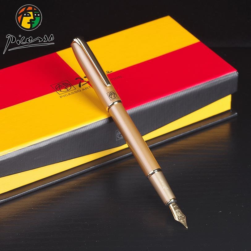 New 0.5mm Fountain pen ink pen nib Iraurita Full metal Golden Clip luxury pens Vulpen Pluma Caneta Stationery Business Pen 03834 black golden clip full metal fountain pen wingsung 572 hooded nib luxury student writing business gift pens with box stationery