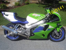 Hot Sales,For Kawasaki Ninja ZX7R Parts 636 1996-2003 ZX-7R 96-03 ZX 7R Green Blue White Bodyworks Cheap Motorcycle Fairing Set