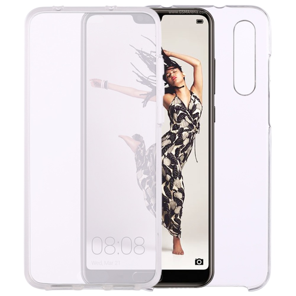 Front Back 2 Side Case for Huawei P20 Pro 0 75mm Double Sided Ultra- thin  Transparent PC + TPU Cover Case