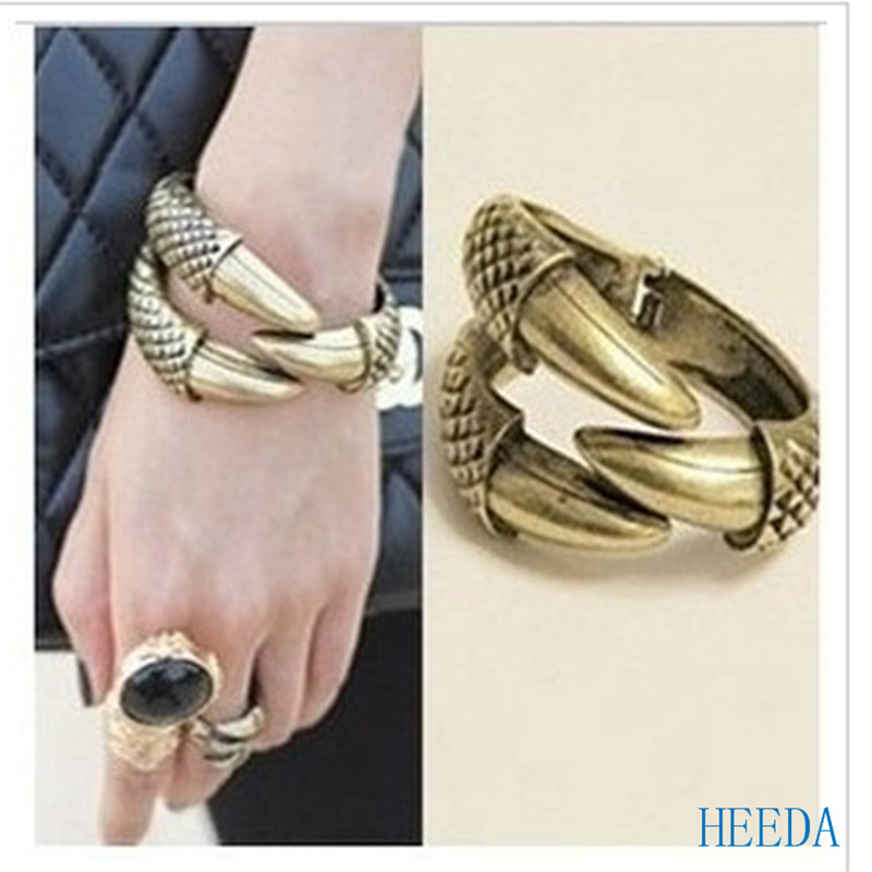 New Style Couple Bangles Creative Eagle Claw Bracelet Vintage Accessories for Women and Men