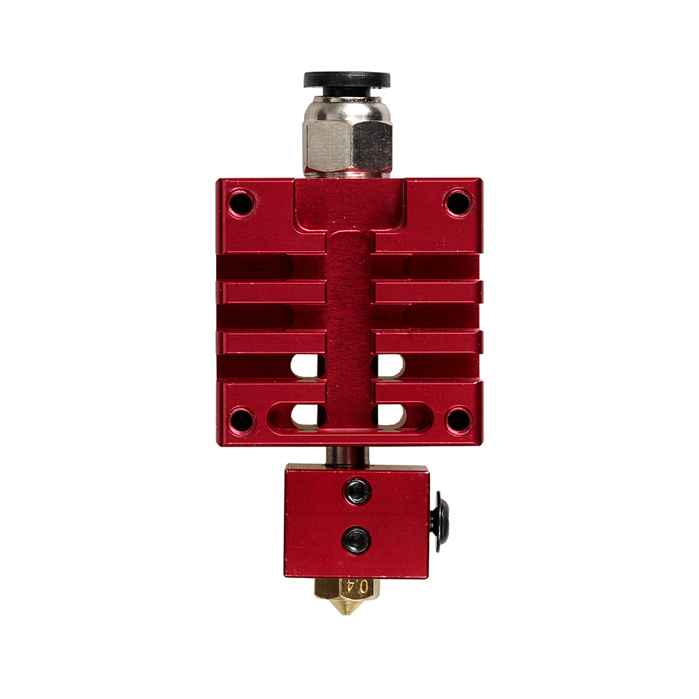 Free Shipping XCR3D High Quality Improved V6 j hend All metal Hotend Kit Red blue 0 4mm 1 75mm Nozzle for 3D Printer extruder in 3D Printer Parts Accessories from Computer Office