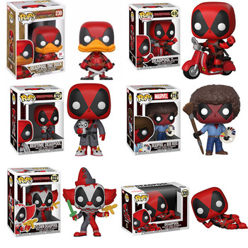 Funko POP Marvel Super Hero DEADPOOL Brinquedos Action Figure Toys for Friend Children Birthday Gift Collection For Movie Fans play arts kai pa thor figure super hero hammer pa 27cm pvc action figure doll toys kids gift brinquedos