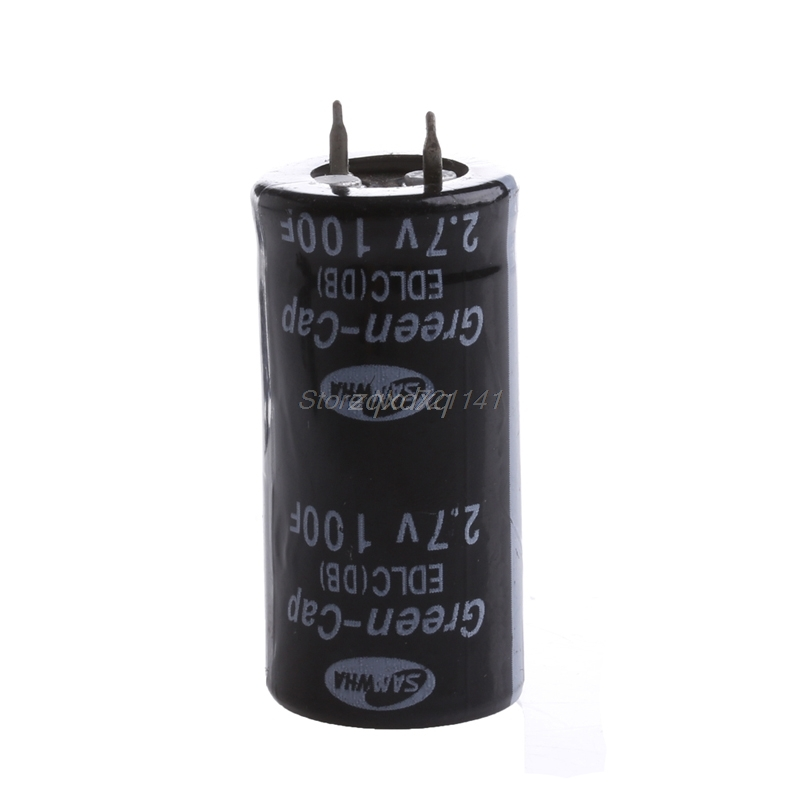 2Pcs <font><b>Super</b></font> <font><b>Capacitor</b></font> <font><b>2.7V</b></font> <font><b>100F</b></font> Ultra <font><b>Capacitor</b></font> Farad New Nov01 Drop ship image