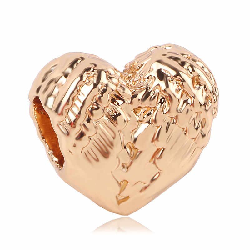 Ranqin цепочки и ожерелья новые модные европейские DIY бисера fit Браслет подвес Пандора для женщин кулон подарок оригинальный розовое золото 1 шт. Би