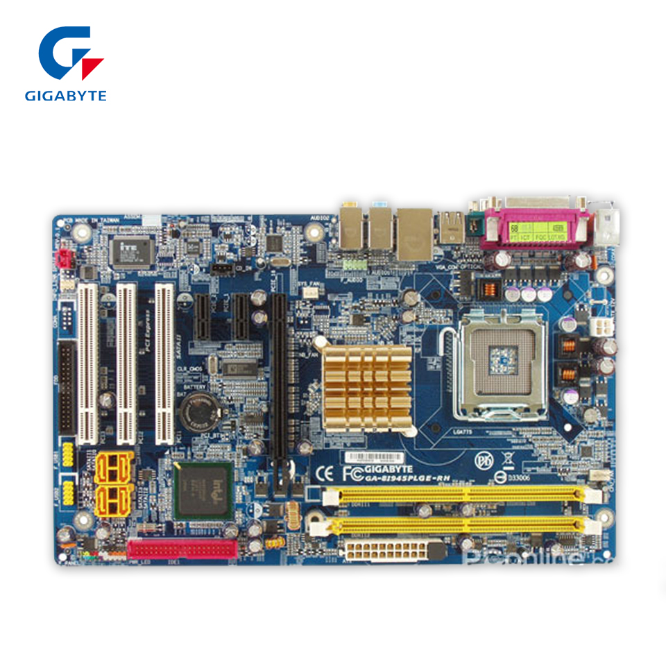 Original Gigabyte GA-8I945PLGE-RH Desktop Motherboard 8I945PLGE-RH 945PL LGA 775 DDR2 2G SATA2 Micro-ATX 100% Fully Test original gigabyte ga 945plm ds2 desktop motherboard 945plm ds2 945pl lga 775 ddr2 micro atx 100% fully test