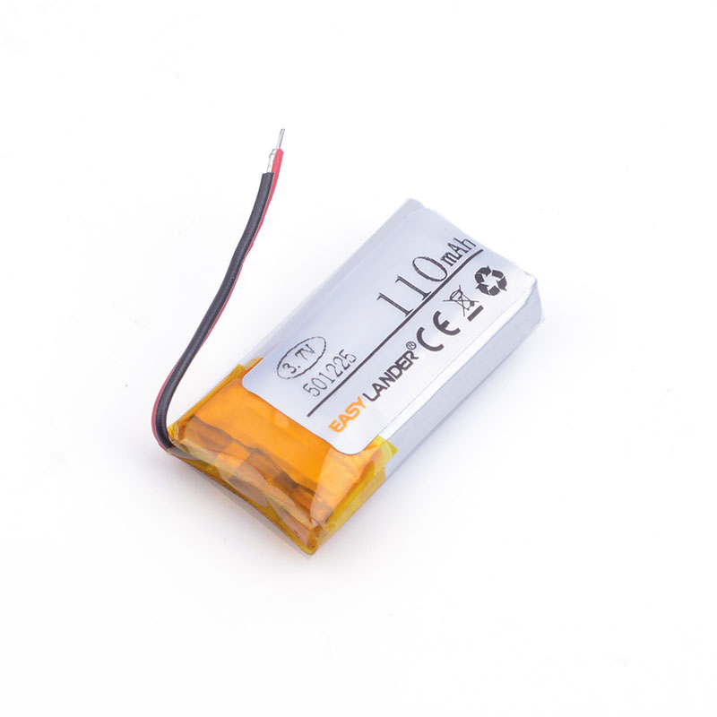 3.7 V 501225 051225P 110mAh polymer lithium battery with protection board used for bluetooth MP3 MP4 toys DVR Sports headphone