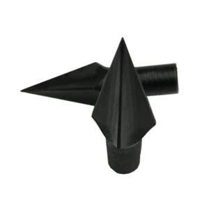 Image 3 - 6個アーチェリー矢印黒ブロードヘッド合金鋼矢印ヒントクロスボウ撮影目標点232Gr矢じり伝統的なブロードヘッド