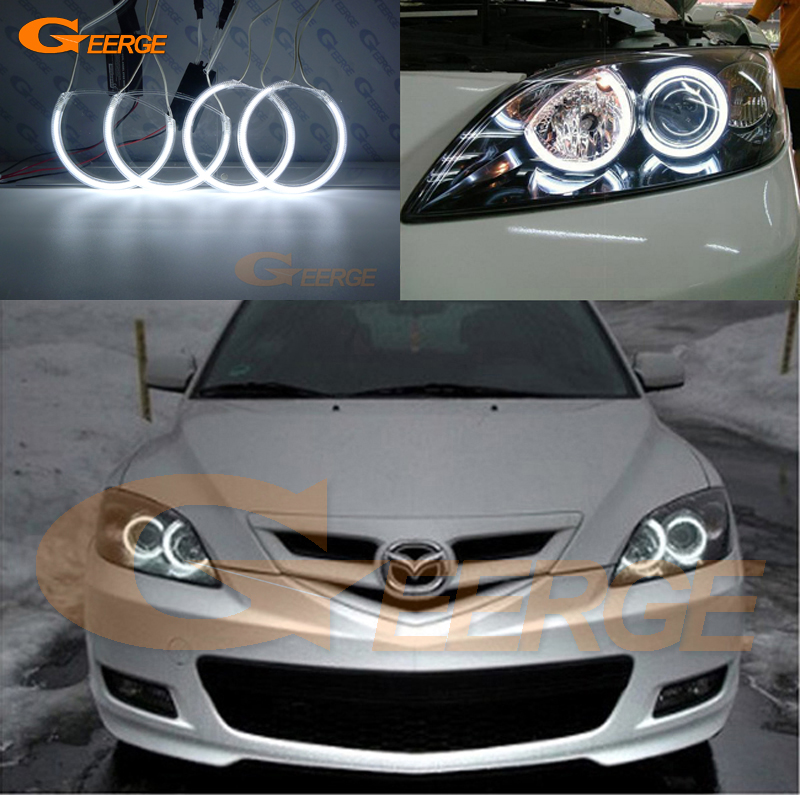 For Mazda 3 mazda3 2003 2004 2005 2006 2007 Excellent Angel Eyes NEW Ultra bright headlight illumination CCFL Angel Eyes kit for chrysler pacifica 2007 2008 halogen headlight excellent angel eyes ultra bright illumination ccfl angel eyes kit
