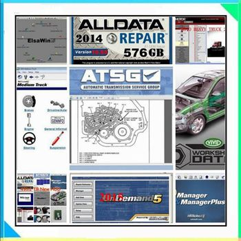 2020 Hot Alldata All Data 10.53 Mit//Chell OD 2015 Auto Repair Software Vivid Workshop Atsg elsawin6.0 manager plus 50in1tb HDD