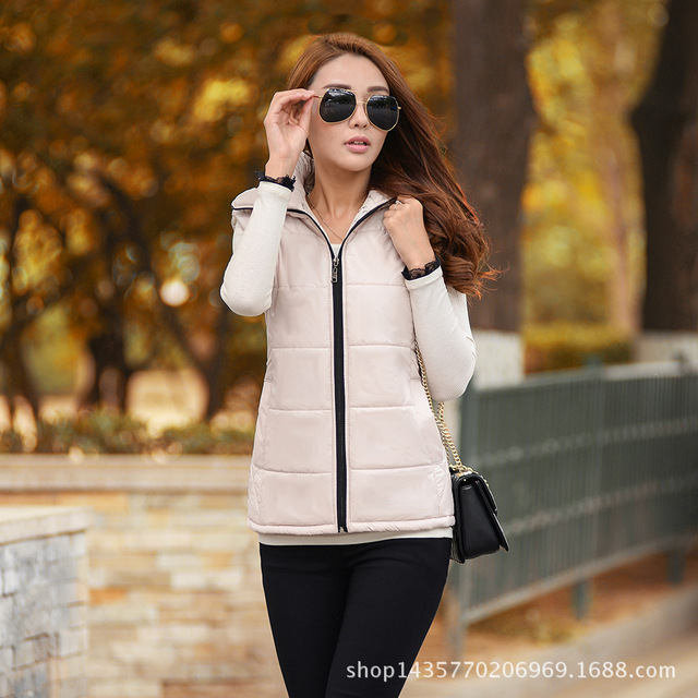 Зима Жилеты Верхняя Одежда Пальто 2016 Женщины Зимний Жилет Мода Хлопок Пальто для Женщин Зимний Жилет