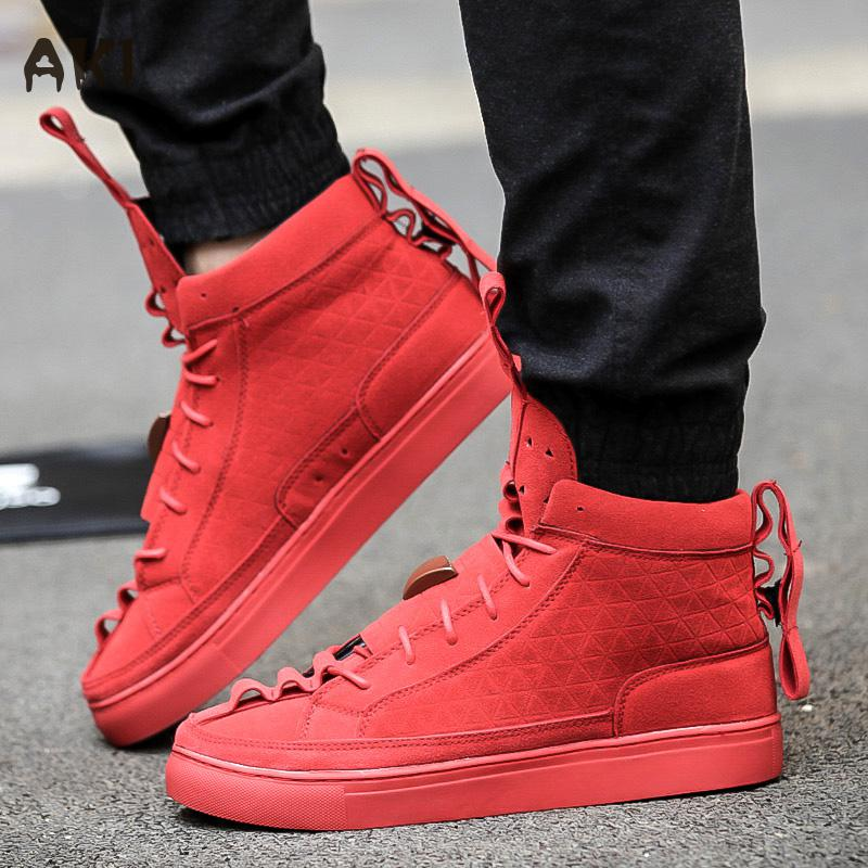 Patrick Mohr Men Women Flat Triangle Shoes High And Low Leather Nubuck Trend Red Black Woman Casual