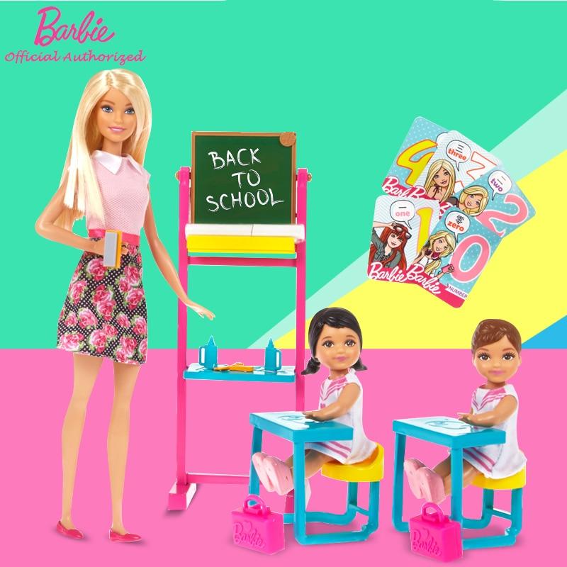Barbie Authorize Brand Newest Dreams English Teacher Job Classroom And Student For Little Girl Birthday Gift Barbie Boneca FFB19 kavita bhatnagar amarjit singh and kalpana srivastava job satisfaction among medical teachers