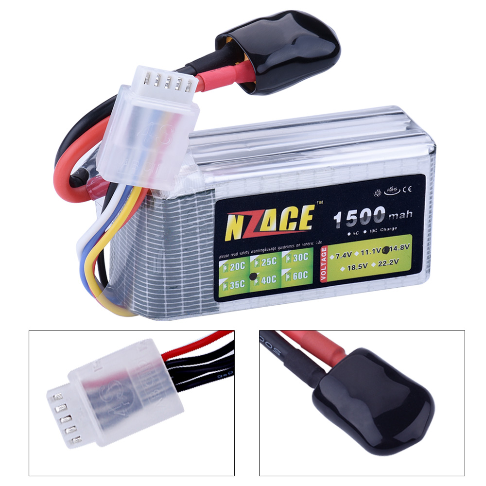 NZACE Power Lipo Battery 14.8V 1500mAh 40C Max 80C 4S XT60 Plug For RC Quadcopter Truck Drone Buggy Bateria Lipo High Quality lion power lipo battery 14 8v 2200mah 25c max 35c 4s t xt60 plug for rc quadcopter truck drone battery 14 8 v lipo high quality