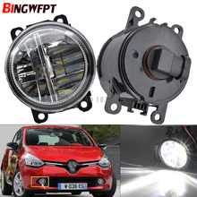 Car Exterior Accessories H11 LED Fog Lamps For Renault Clio IV 2012-2016 Front Bumper Auxiliary Passing Lights