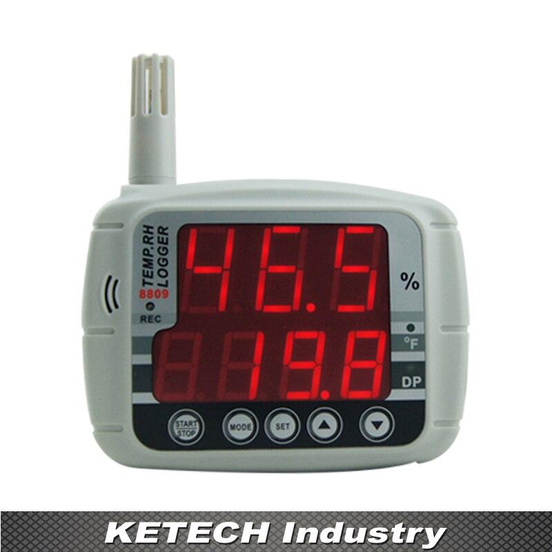 AZ-8809 Ad Alta Precisione Grande Display A LED Temperatura Umidità Data Logger