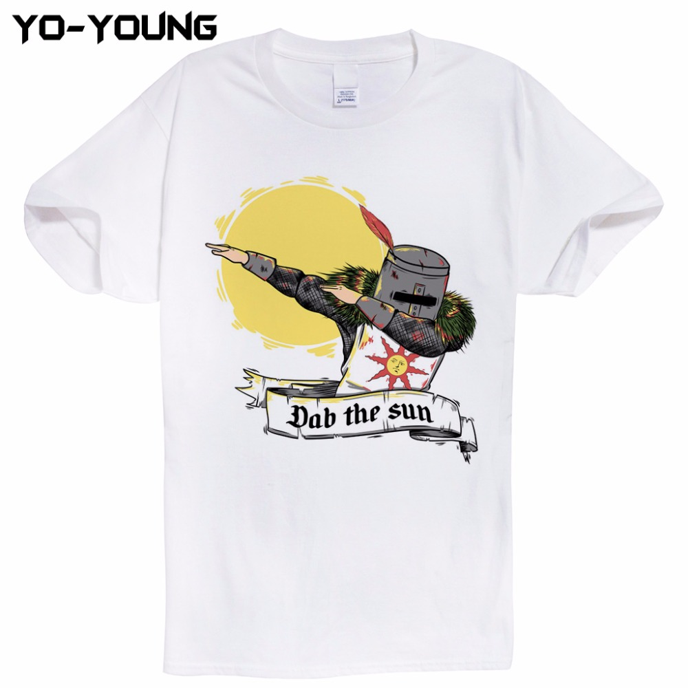 The dark souls dab the sun t shirts men funny design t for Digital printing for t shirts