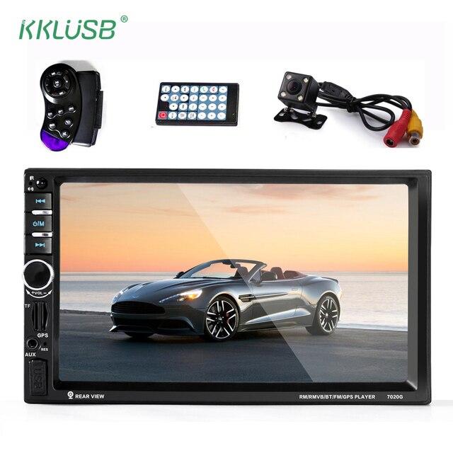 Autoradio car audio 2 Din GPS Navigation 7'' inch LCD Touch screen auto radio Stereo bluetooth Car Multimedia player 7020G