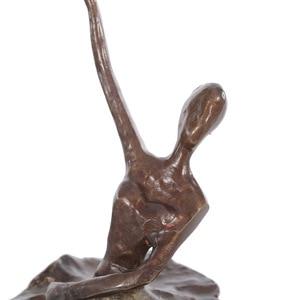 Image 4 - Ballet Dancing sculpture modern art Ballet Girl Iron Figurine Statue Ballerina Statue Female Statue Home Decoration accessories