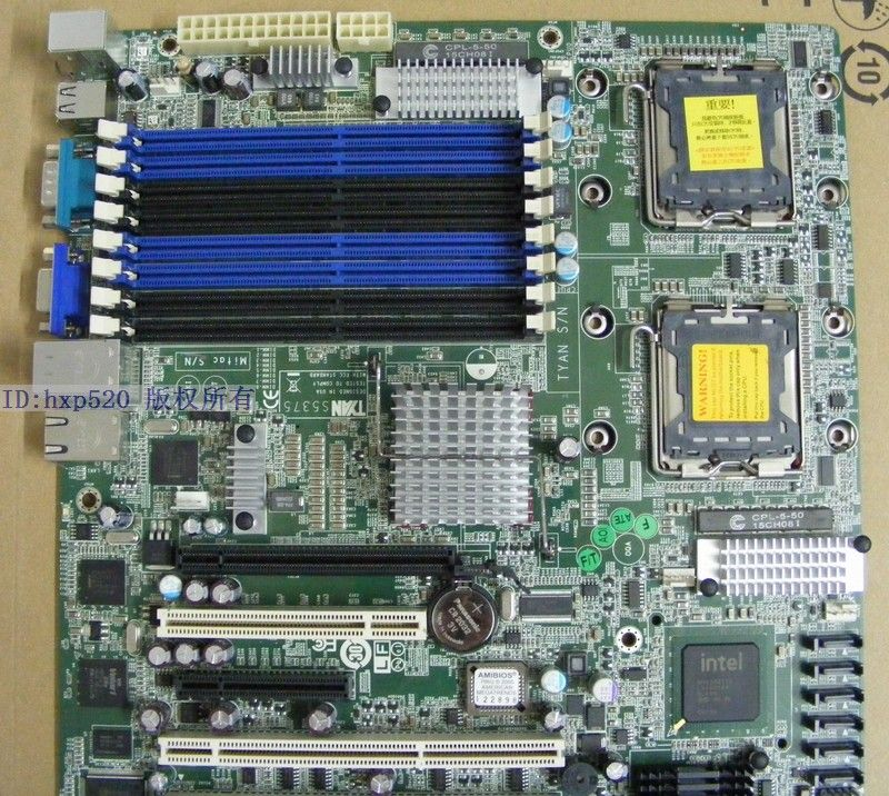 S5375AG2NR 771 dual motherboard S5375 with PCI-E 16X slot sound card support 54