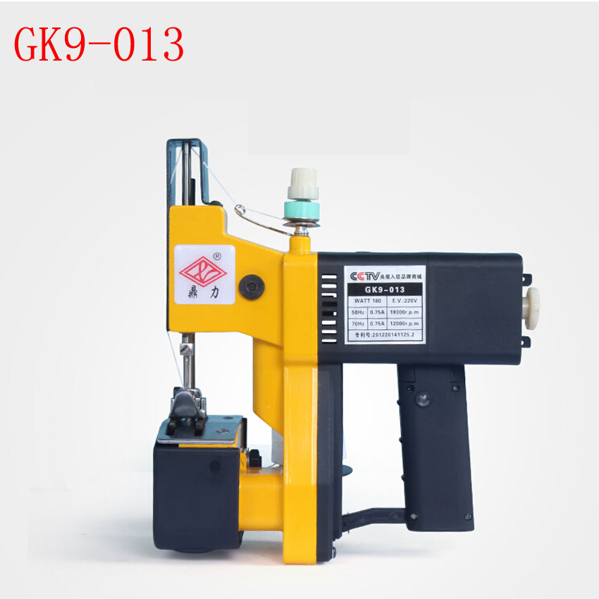 1pc GK9-013 gun-type portable electric packet machine, Sewing machine, strapping, woven sealing machine c type sewing machine style music box brown black