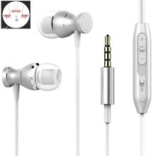 Fashion Terbaik Bass Stereo Earphone untuk Htc Satu E9s Dual SIM Earbud Headset dengan MIC Remote Kontrol Volume Earphone(China)