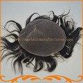 Парик шнурка мужчины полный французский шнурок мужской парик отбеленные узлы горячие продажи реми волос бесплатная доставка