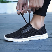 Men Lightweight Shoes 2019 All Season Sneakers Breathable Mesh Casual Shoes Women Vulcanize Shoes Big Plus Size 48 Lace Up Shoe