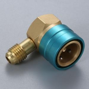 Image 5 - Adaptador de manguera R1234YF a R134A lado bajo R1234yf acoplador rápido 14 mm hembra 1/4 pulgadas SAE macho