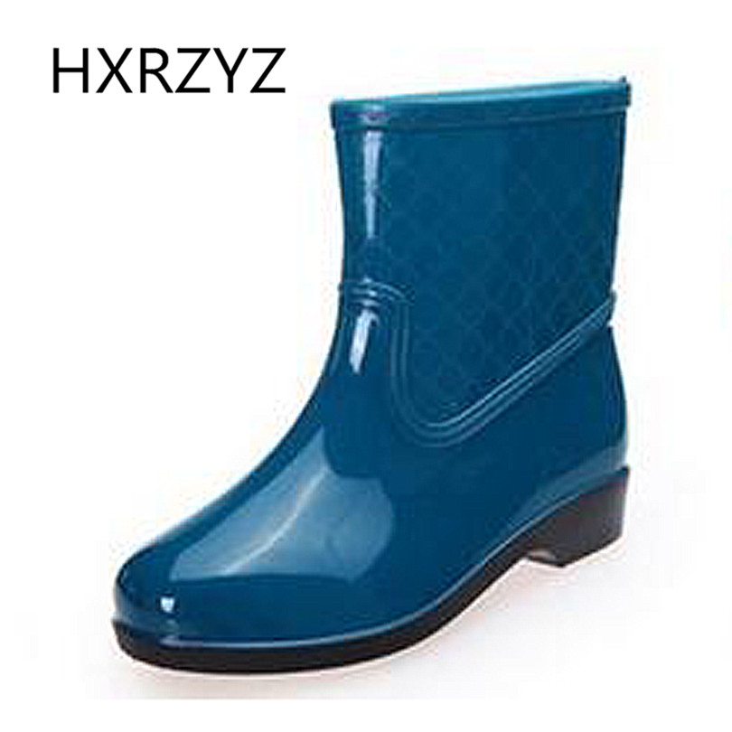 Autumn new fashion Rubber Rainboots Comfortable and Soft Walking Non-Slip Women Rain Shoes Ladies Classic Short Ankle Rainboots fashion boutique beige rubber soft front insole for ladies fit any shoes
