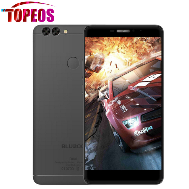 BLUBOO Dual Smartphone Android 6.0 MTK6737T Quad Core 2G+16G Dual Back Cameras 8MP 13MP Fingerprint 5.5 Inch FHD 4G Mobile Phone