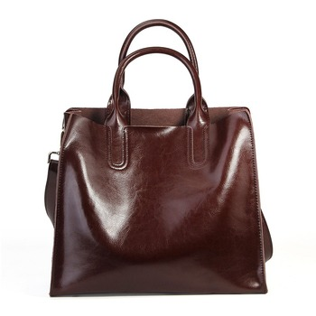 Burminsa Brand Real Leather Handbags Ladies Genuine Leather Tote Hand Bags Female Designer Shopper Shoulder Bags For Women 2018