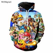 Cartoon Super Cute Mario Bros 3D Print Jackets Men/Women Hiphop Streetwear Sweatshirts Boys Kawaii Coat Clothes Harajuku