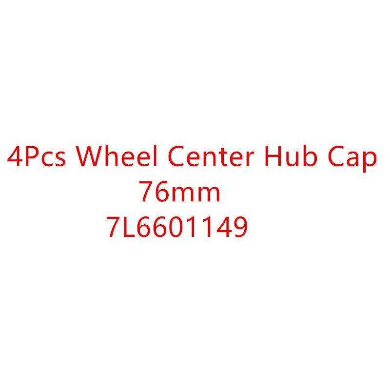 New 4pcs OEM Wheel Center Cap Emblem Badge Logo 7L6601149 76MM FOR 2004-2010 VW Touareg 2006-2017 Crafter