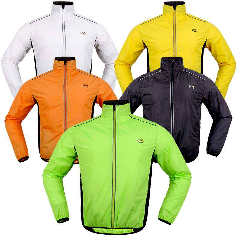 2017 Hot Sale <font><b>Men</b></font> Bicycle Cycling Jersey Long Sleeve Cycling Jackets Maillot Ciclismo Breathable Windproof Wind Coat Raincoat