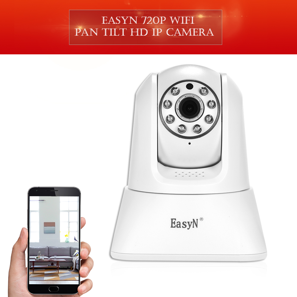 720P Wireless WIFI Pan Tilt HD IP Camera 1 0MP CMOS Support PTZ Two way Audio