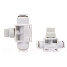Válvula de retenção De Plástico branco acessórios pneumáticos conector HVFF válvula da tubulação HVFF-4/HVFF-6/HVFF-8/HVFF-10/HVFF-12