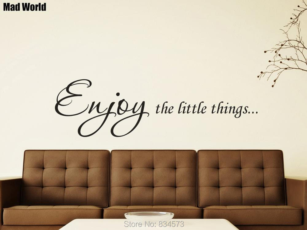 THE BEST THINGS IN LIFE WALL STICKER QUOTE BEDROOM WALL ART DECAL X164