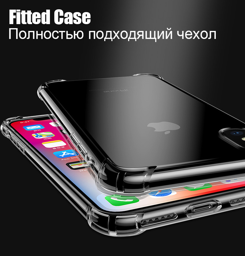 TOMKAS Anti-knock Cases For iPhone X 8 Plus Case Silicone Soft TPU Clear Cover Case For iPhone 6 6S 7 8 Plus X Cases Transparent (8)