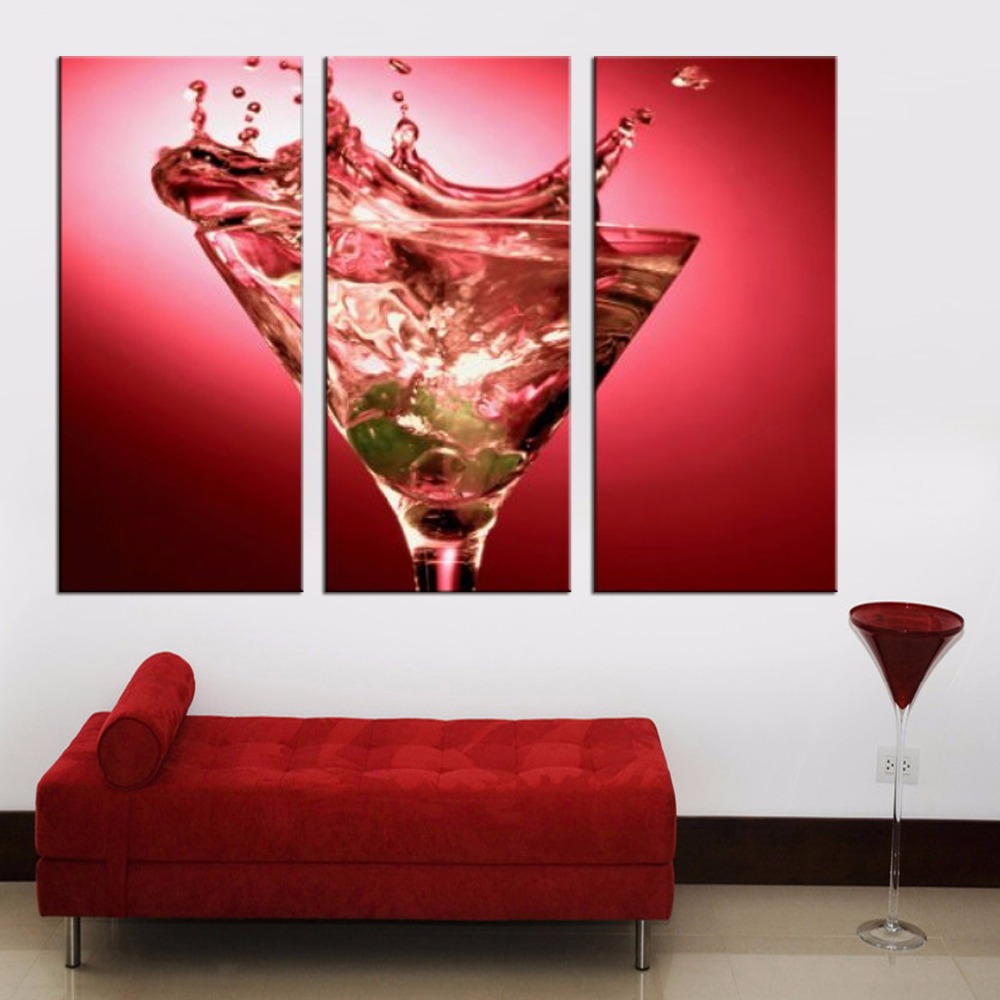 Amazing Red Wine Glass Series Canvas Painting Modern Wall Paintings For Home  Decorative Wall Art Picture Paint On Canvas Prints In Painting U0026  Calligraphy From Home ...