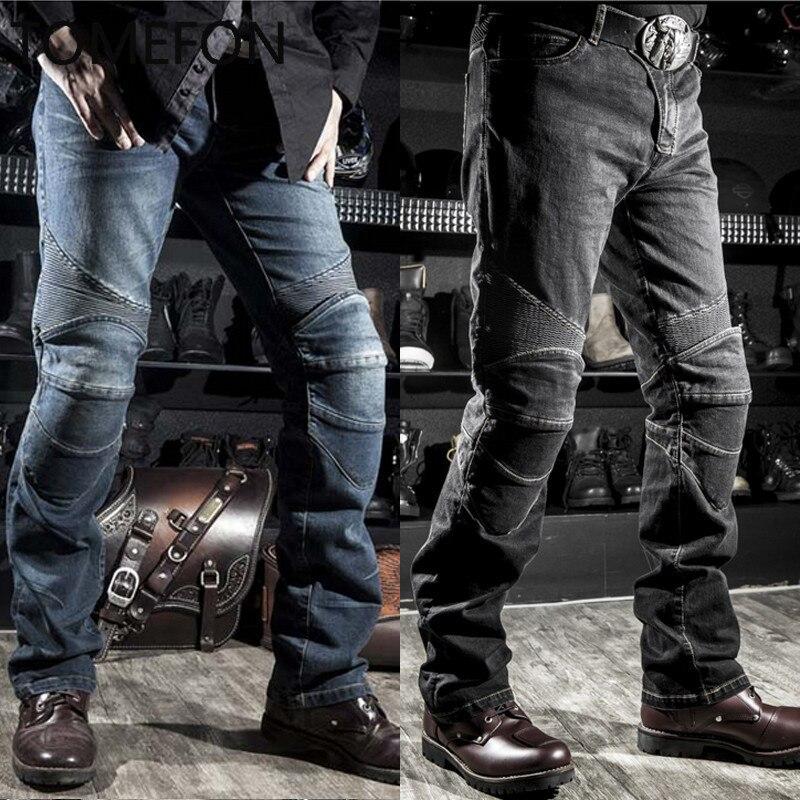 Скорость Скорпиона КОМИНЕ мужчины мотоциклах брюки Мотокросс брюки для мотоцикла Мото КТМ вниз джинсы с пусковой площадки колена брюки ОБЩЕСТВО С moletom