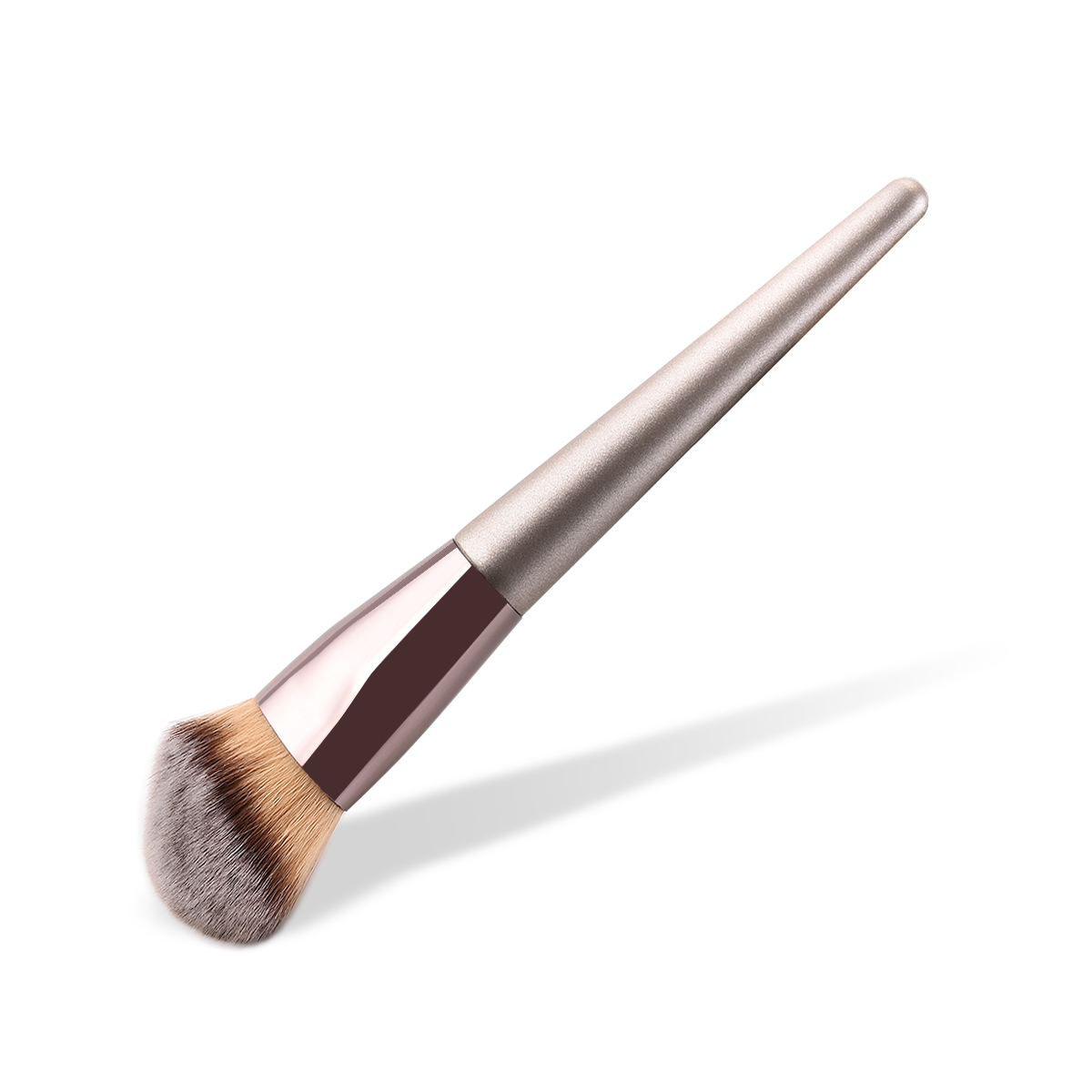 Image 2 - BBL 1 Piece Champagne Gold Precision Liquid Foundation Brush Perfect Pro Tapered Buffing Sculpting Angled Makeup Brushes Tools-in Eye Shadow Applicator from Beauty & Health