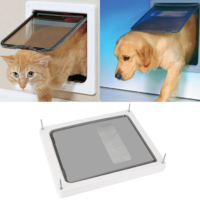 Homdox Large Sliding Shutter Frame Dual Entry Extra Kitten Dog Pet