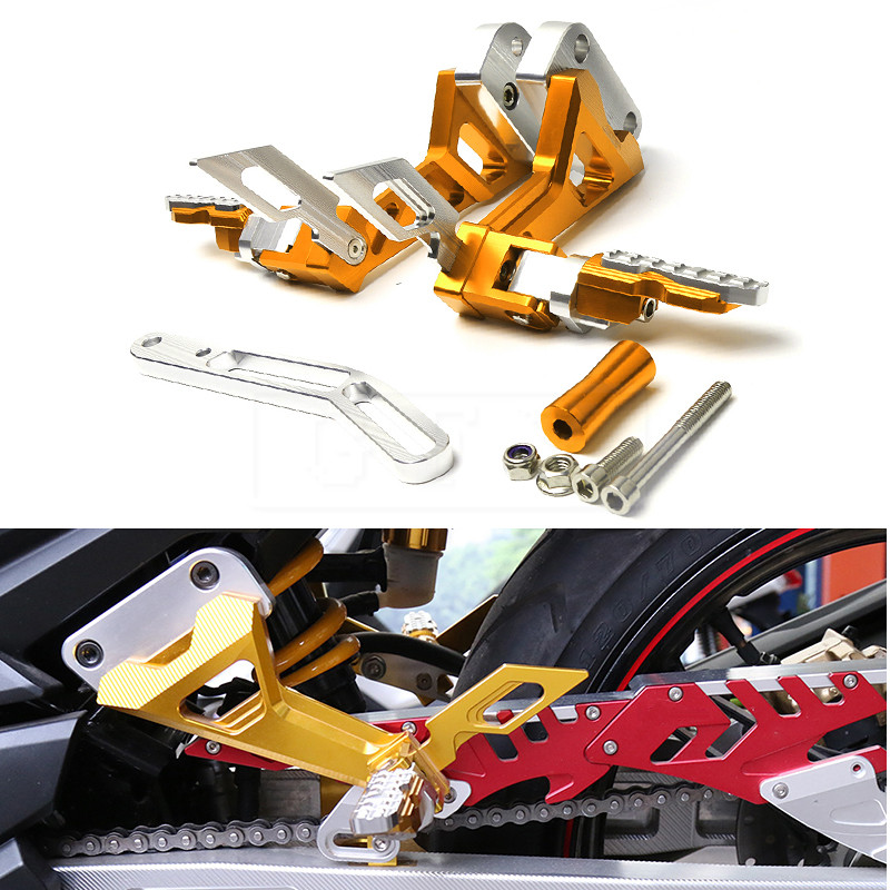 Motorcycle CNC Adjustable Rearset Footrests Rear Set Foot Pegs Pedal For Yamaha Exciter RC150 LC150 All Years Moto Accessory 17